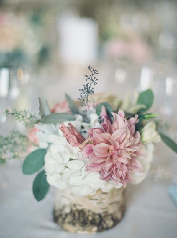 Mauve and Ivory Centerpiece