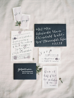 Modern Wedding Invitations with Calligraphy