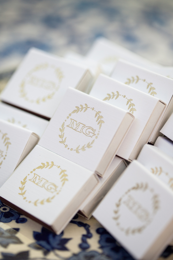 Monogrammed Matches Wedding Favors