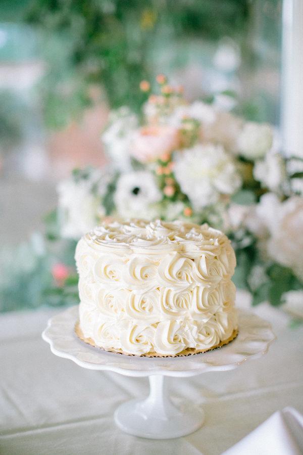 Tier Rosette Wedding Cake