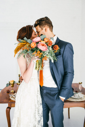 Orange Wedding Flowers