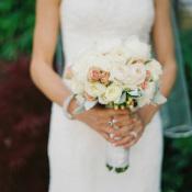 Pale Peach Bride Bouquet
