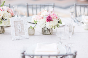 Pink Silver White Reception