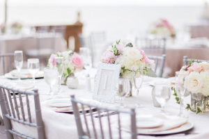 Pink and Silver Wedding Reception