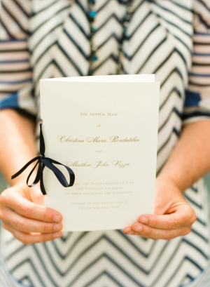 Ribbon Tied Wedding Programs