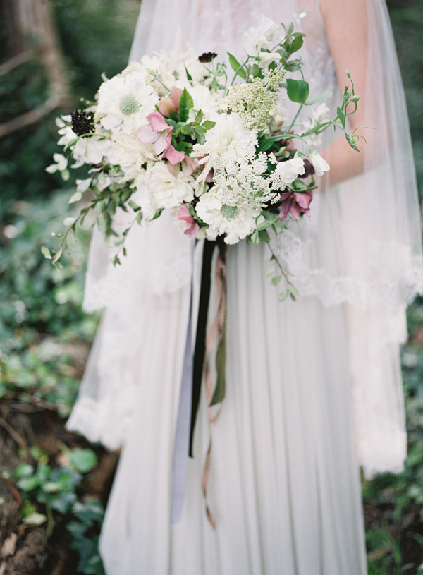 Scabiosa and Hellebore Wedding Bouquet Photo By Michael Radford