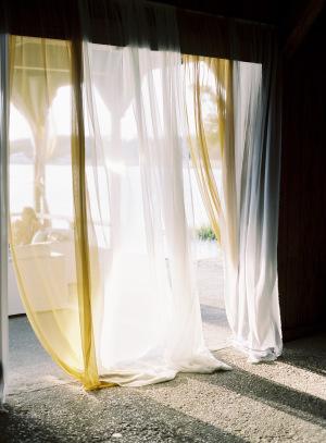 Sheer Curtains at Wedding