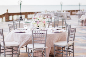 Silver and Pink Wedding