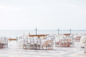Silver and Pink Wedding Reception