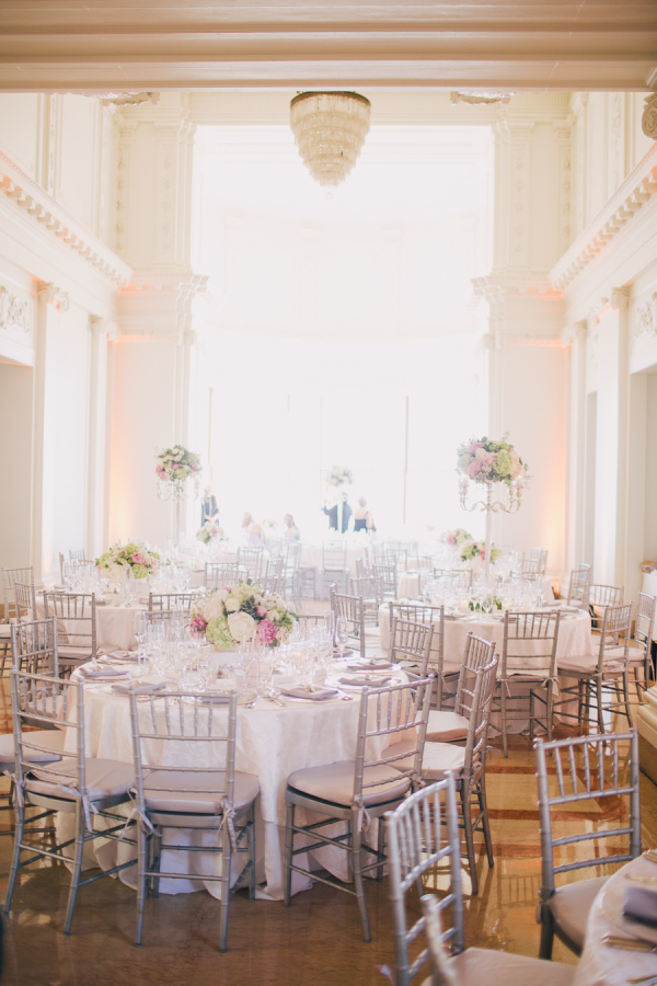Silver And White Wedding Reception Elizabeth Anne Designs The