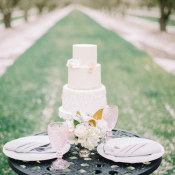 Sleek White Wedding Cake