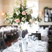 Tall Pink and Green Centerpiece