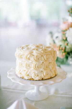 Wedding Cake with Icing Rosettes