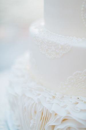 Wedding Cake with Lace Details