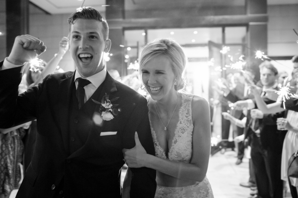 Wedding Exit with Sparklers 2