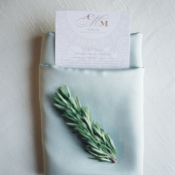 Wedding Place Setting with Herb