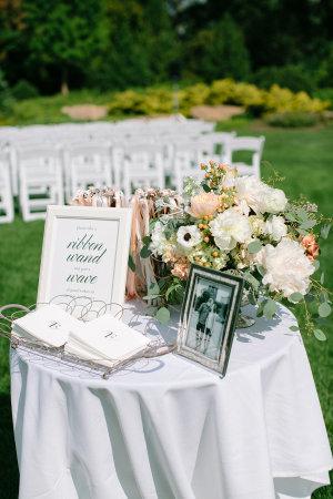 Wedding Program Table
