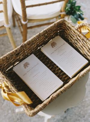 Wedding Programs in Basket