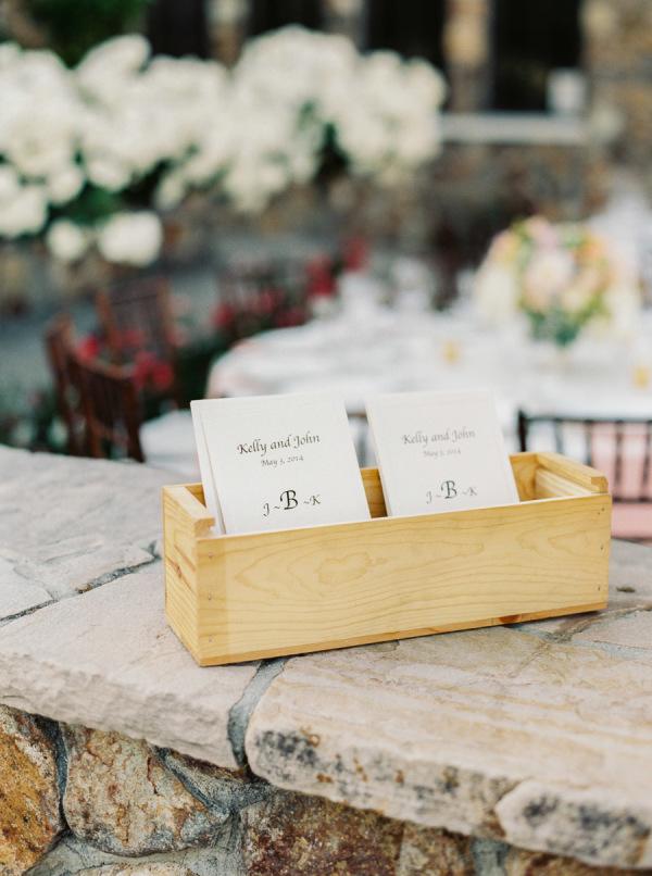 Wedding Programs in Wood Box