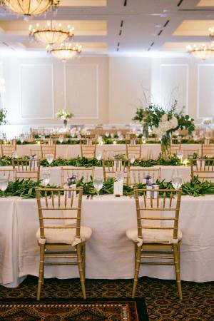 Wedding Reception with Greenery