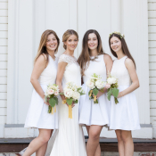 White Short Bridesmaids Dresses