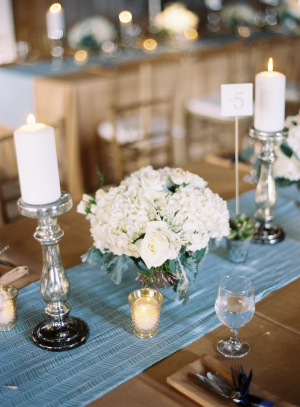 White and Silver Centerpiece