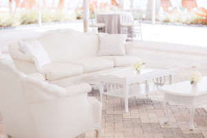 White and Silver Wedding Lounge