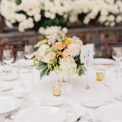 Yellow and Pink Wedding Centerpiece
