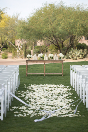Aisle with Rose Petals