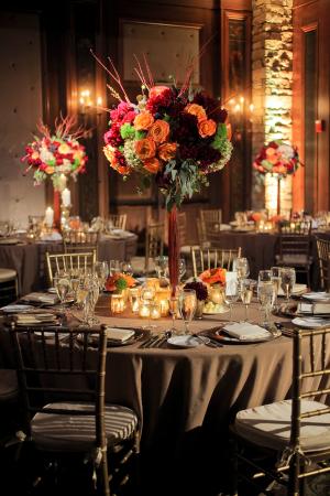 Ballroom Wedding in Fall Colors