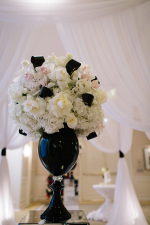 Black and White Wedding Arrangement