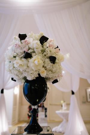 Black and White Wedding Arrangement