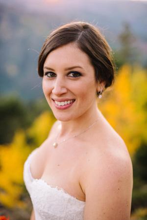 Bride in Aspen Fall Wedding