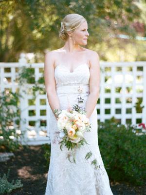 Bride in Garden Wedding
