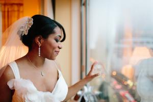 Bride in JCrew Gown