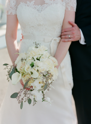 Bride with Ivory Bouquet