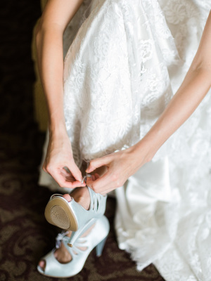 Bride with Vintage Booties