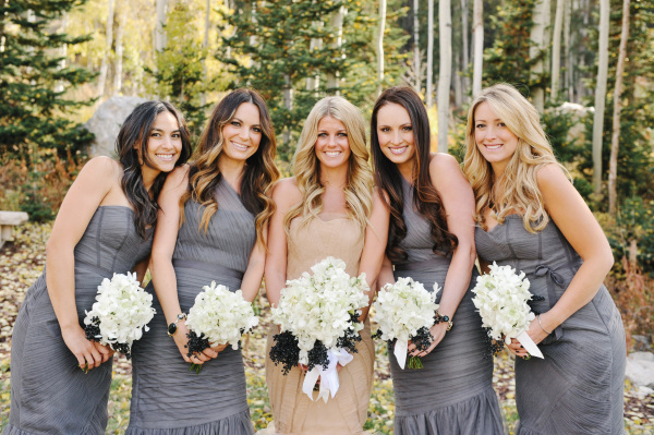 Bridesmaids in Dusty Blue