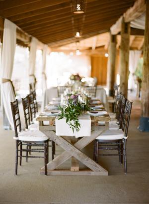 Brown Rustic Wedding Table