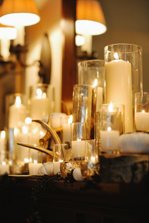 Candles on Wedding Mantle