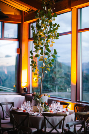 Centerpiece with Aspen Trees 2