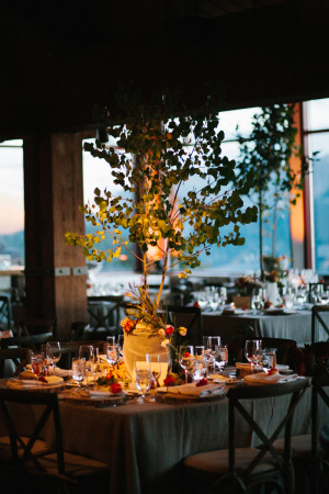 Centerpiece with Aspen Trees