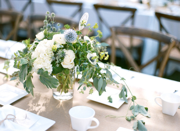 Centerpieces with Thistle