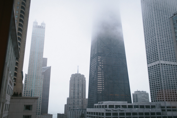 Chicago in Fog