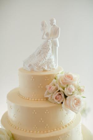 Classic White Cake Topper