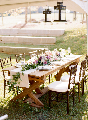 Elegant Purple Rustic Wedding