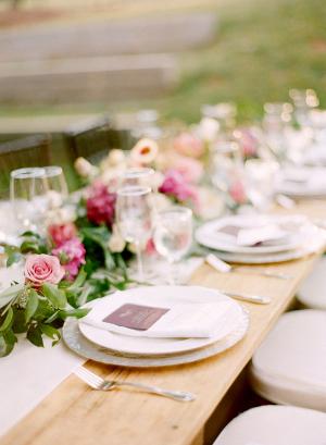 Elegant Rustic Purple Wedding
