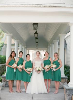 Emerald Green Bridesmaids Dresses 2