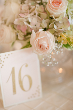 Gold Glitter Table Number
