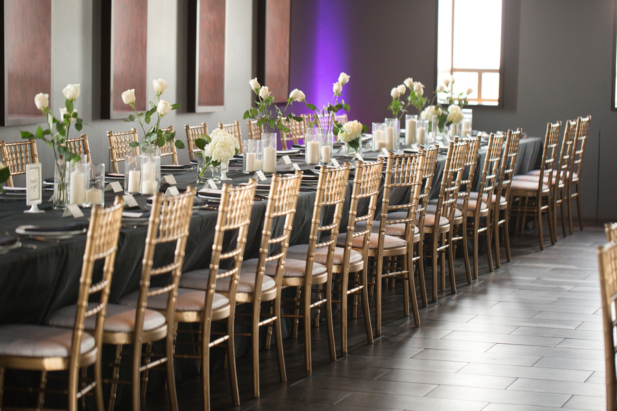 Gold And Black Wedding Reception Elizabeth Anne Designs The